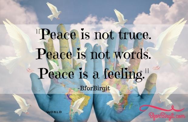 peace feeling